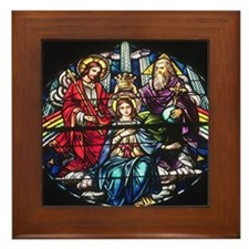 The Crowning of Mary Framed Tile