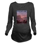 Colorado Sunset Long Sleeve Maternity T-Shirt