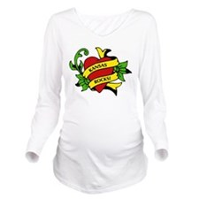 Kansas Rocks! Long Sleeve Maternity T-Shirt