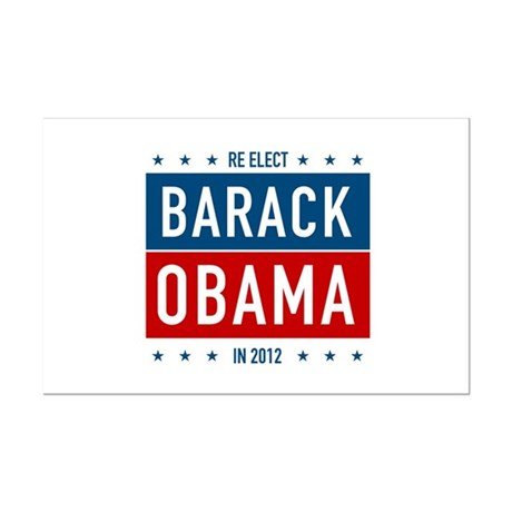 Barack Obama for President Mini Poster Print