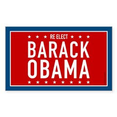 Barack Obama for President Rectangle Sticker