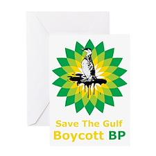 BoycottBP1Bk Greeting Card