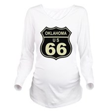 Oklahoma Route 66 Long Sleeve Maternity T-Shirt