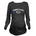 Pennsylvania 1787 Long Sleeve Maternity T-Shirt