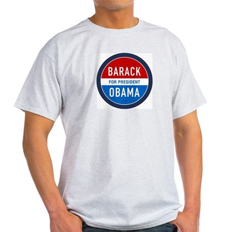 Barack Obama for President Ash Grey T-Shirt