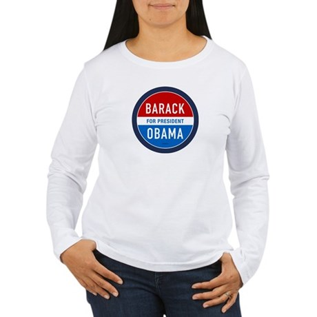 Barack Obama for President Womens Long Sleeve T-S