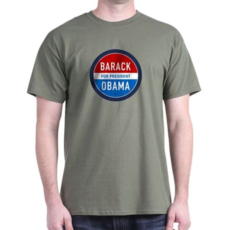 Barack Obama for President Military Green Tee