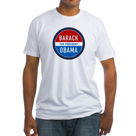 Barack Obama for President Fitted T-Shirt