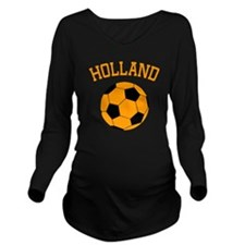 soccerballNL1 Long Sleeve Maternity T-Shirt