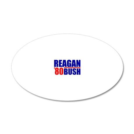 reaganblue3 20x12 Oval Wall Decal