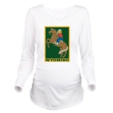 Wyoming Long Sleeve Maternity T-Shirt