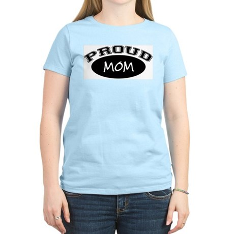 Proud Mom (black) Women's Pink T-Shirt