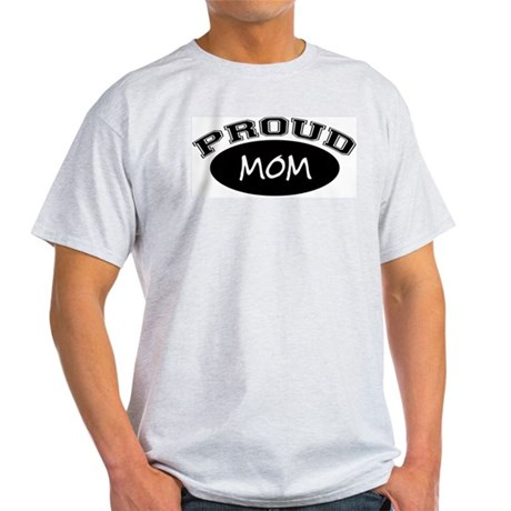 Proud Mom (black) Ash Grey T-Shirt