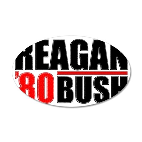 reaganblackfinal 35x21 Oval Wall Decal