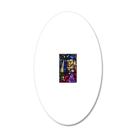 Adoration of the Magi 20x12 Oval Wall Decal