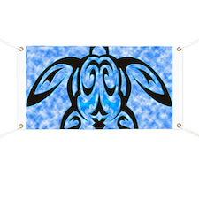 hawaiian honu turtle print Banner