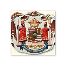 "king kamehameha hawaii cres Square Sticker 3"" x 3"""