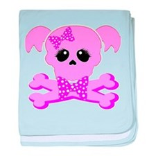 Pink Goth Girl baby blanket
