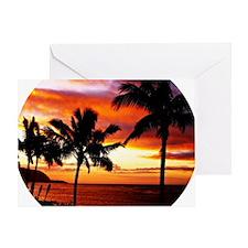 Hawaiian beach sunset Greeting Card