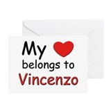My heart belongs to vincenzo Greeting Cards (Packa
