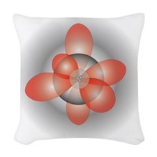 orbitals3 Woven Throw Pillow