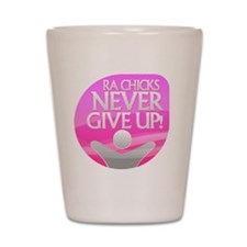 RA Chicks NGU Hot Pink Logo Shot Glass