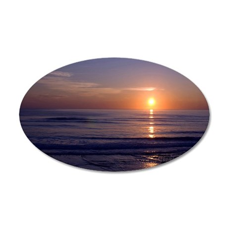 Sunrise Over Atlantic 35x21 Oval Wall Decal