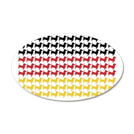 DOXIE-GERMAN-FLAG 35x21 Oval Wall Decal