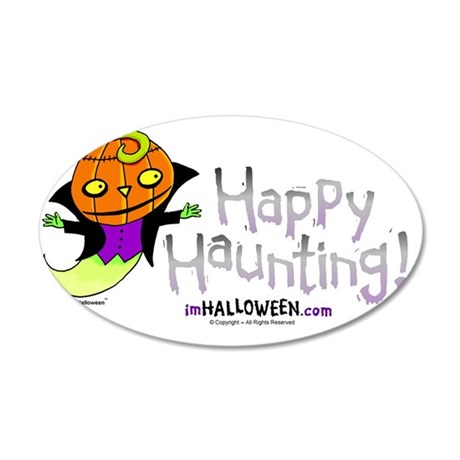 Happy Haunting 35x21 Oval Wall Decal