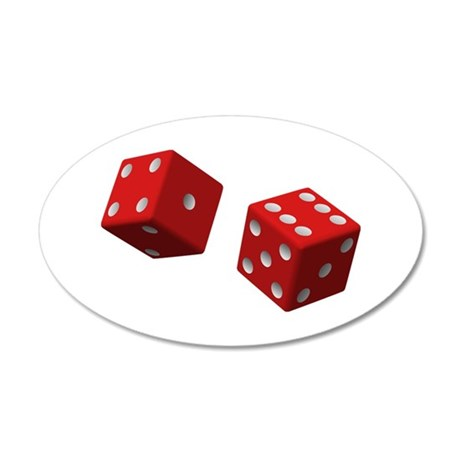 Rolling Dice Wall Decal