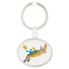 Most Popular Sea Turtle Oval Keychain