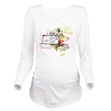 air force wife flowe Long Sleeve Maternity T-Shirt