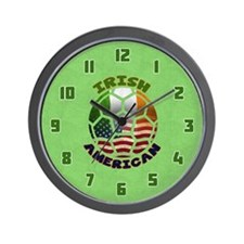 Irish American Soccer Fan Wall Clock