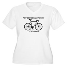 PUT THE FUN BETWEEN YOUR LEGS Plus Size T-Shirt
