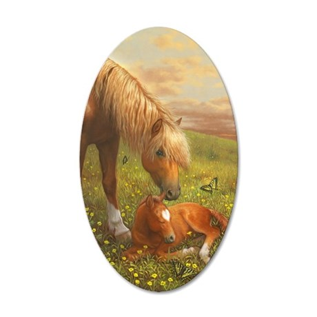 Hush Little Horsie_card 35x21 Oval Wall Decal
