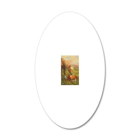 Hush Little Horsie_card 20x12 Oval Wall Decal