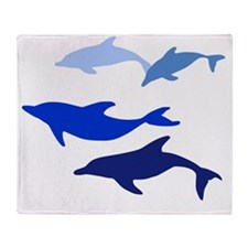 Blue Logo Throw Blanket