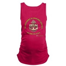 navy gold grandson.png Maternity Tank Top