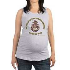 navy gold son in law.png Maternity Tank Top
