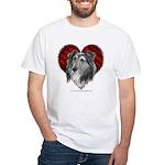 Sheltie Heart White T-Shirt