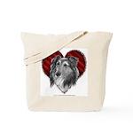 Sheltie Heart Tote Bag