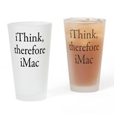 iThink therefore iMac Retro Drinking Glass