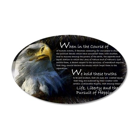 Wheninthecourse 35x21 Oval Wall Decal