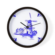 Dutchtile2b Wall Clock