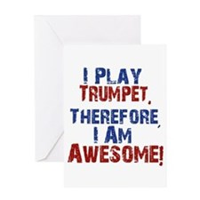 I Play Trumpet Greeting Cards