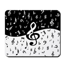 Stylish random musical notes Mousepad