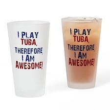 I Play Tuba Drinking Glass