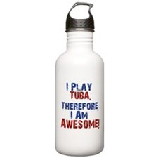 I Play Tuba Water Bottle