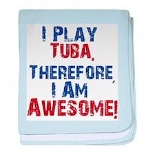 I Play Tuba baby blanket