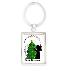 Have a Joyful Christmas Portrait Keychain
